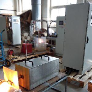 Установка ТВЧ для нагрева графита